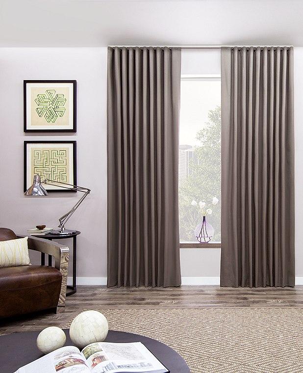 Window treatment window curtain ideas for living room with gray - Ripplefold Drapery Ripplefold Drapes The Shade Store